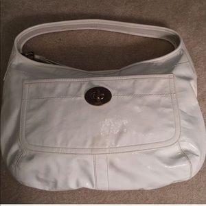 Coach Leather Vanilla Vintage Large Shoulder Bag